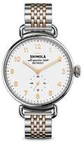 Shinola Canfield Two-Tone Stainless Steel Bracelet Watch