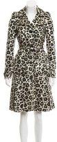 Alice + Olivia Leopard Trench Coat
