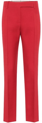Valentino high-rise slim wool and silk pants