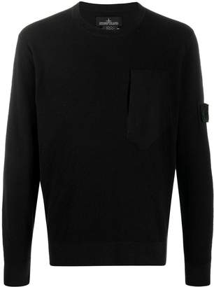 Stone Island Shadow Project logo patch lightweight sweater