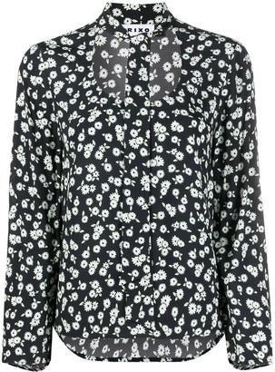 Rixo Josie daisy print tie-neck blouse