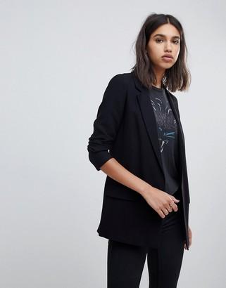 AllSaints aleida tailored blazer in black