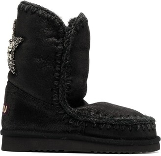 Mou Embellished Star Snow Boots