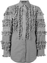 Dolce & Gabbana gingham ruffle shirt - women - Cotton/Polyamide/Spandex/Elastane - 38