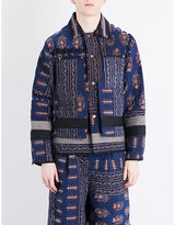 Craig Green Patchwork-print Wool-blend Quilted Jacket