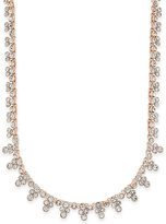 Charter Club Rose Gold-Tone Crystal Cluster Strand Necklace, Only at Macy's