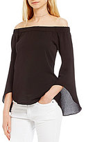 Moa Moa Off-The-Shoulder Bell Sleeve Top