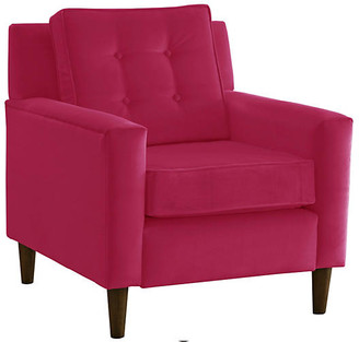One Kings Lane Winston Club Chair - Berry Velvet