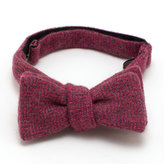 General Knot & Co Rose Heather Herringbone Bow Tie