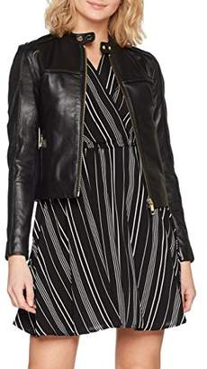 Tommy Hilfiger Women's Stella LTR Fabric Mix JKT Jacket,(Manufacturer Size: 12)