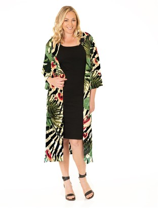 Angel Maternity Blooming Women Bodycon Dress and Duster Set