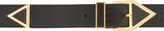 Saint Laurent Black Leather Gold Hardware Triangle Belt