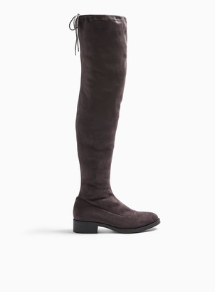 Miss Selfridge OLIVIA Grey Flat Over The Knee Boots