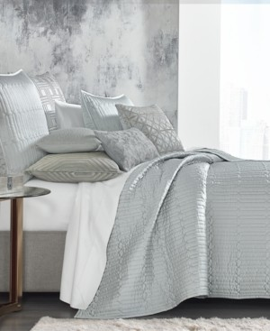 Hotel Collection Lithos King Quilted Coverlet, Created for Macy's Bedding