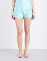 Marjolaine Soie Unie silk-satin pyjama shorts