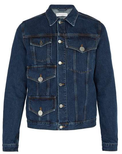 J.W.Anderson Patch Pocket Denim Jacket - Mens - Blue