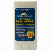 Dermatone SPF 50 Plus No Touch Sunscreen Stick with Z Cote, 0.49 Ounce
