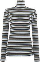 Biba Multi stripe long sleeve roll neck