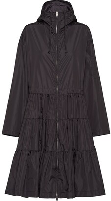 Prada Tiered Midi Raincoat