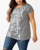 Penningtons Girlfriend Fit Printed T-Shirt