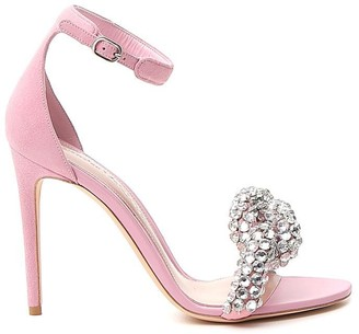 Alexander McQueen Embroidered Crystal Sandals