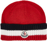 Moncler Wool Striped-Cuff Hat-RED, WHITE, NAVY