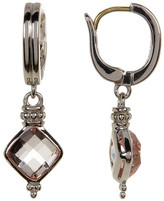 Judith Ripka Sterling Silver Vintage Cushion Crystal Drop Earrings
