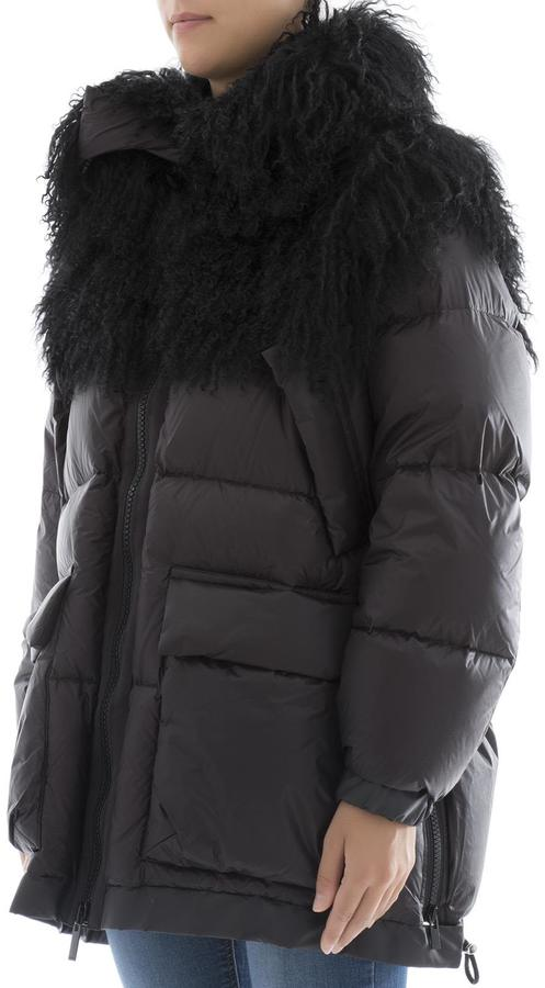 Sacai Black Nylon Down Jacket