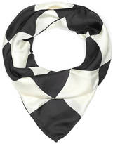 Anna Lou of London Checkerboard Silk Scarf