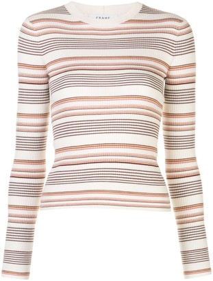 Frame Striped Ribbed Pullover