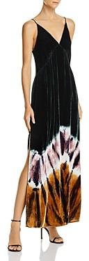 Young Fabulous & Broke Dezie Velvet Tie-Dye Maxi Dress