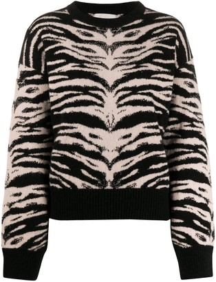 Laneus Tiger-Jacquard Sweater