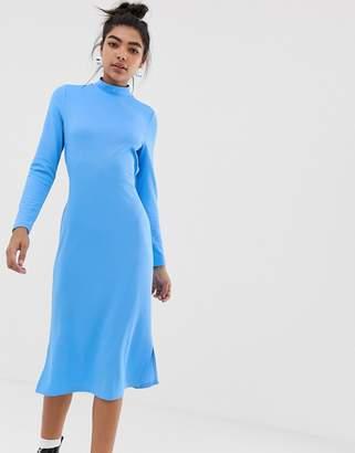Noisy May tie detail dress-Blue