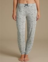 Marks and Spencer Star Print Glitter Cuffed Hem Pyjama Bottoms