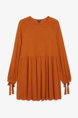 Monki Wrist tie mini dress