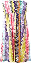 Missoni strapless zigzag dress - women - Cotton/Rayon - 40
