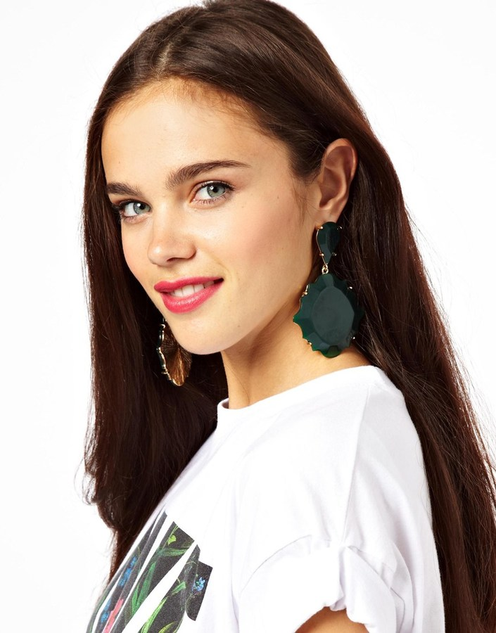 Asos Oversized Ornate Chandelier Earrings