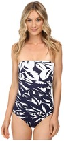 Tommy Bahama Graphic Jungle Engineered Shirred Baneau One-Piece
