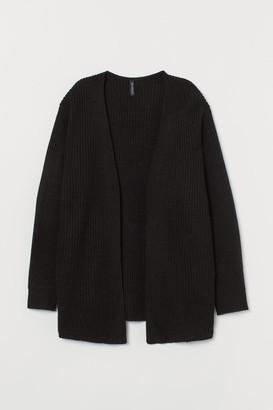 H&M Rib-knit Cardigan - Black