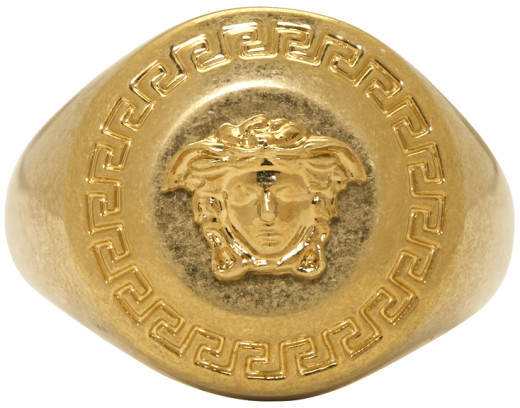 Versace Gold Small Coin Ring