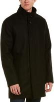 Cole Haan Melton Wool-Blend Coat