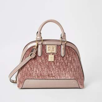 River Island Womens Pink faux suede cross body bag