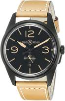 Bell & Ross Men's BR123-HERITAGE Vintage Dial and Strap Dial Watch