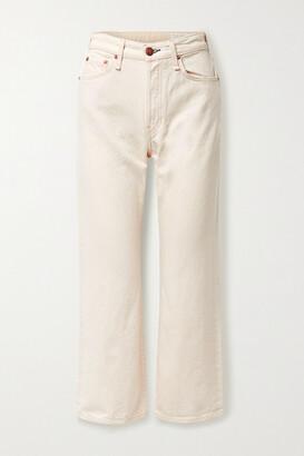 Rag & Bone + Net Sustain Maya Cropped Organic High-rise Straight-leg Jeans - Ecru