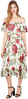 Betsey Johnson Rosey Day Off Or On Shoulder Dress