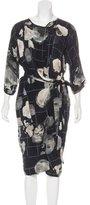Humanoid Silk Floral Print Dress