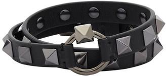 Valentino Black Garavani Rockstud Wrap Bracelet