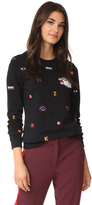 Kenzo Allover Multi Icons Classic Sweatshirt