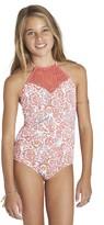 Billabong Girl's Sea Side One-Piece Swimsuit
