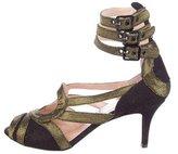 Jean Paul Gaultier Metallic Multistrap Sandals w/ Tags